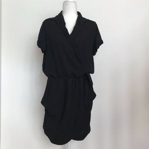 Halston Heritage black wrap dress